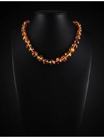 Lemon Amber Ball Beaded Necklace, image , picture 2