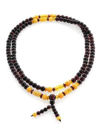 108 Multicolor Amber Mala Beads With Dangle, image , picture 3