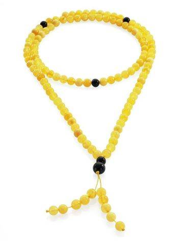 Honey Amber Buddhist Prayer Beads With Dangle, image , picture 3