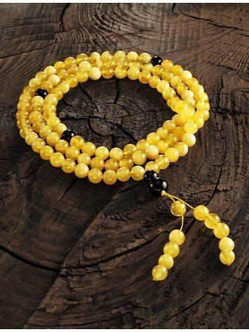 Honey Amber Buddhist Prayer Beads With Dangle, image , picture 2