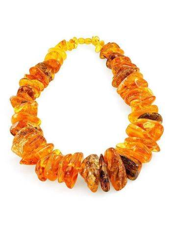 Bold Raw Amber Beaded Necklace, image , picture 3