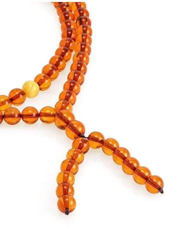 Cognac Amber Buddhist Prayer Beads, image , picture 3