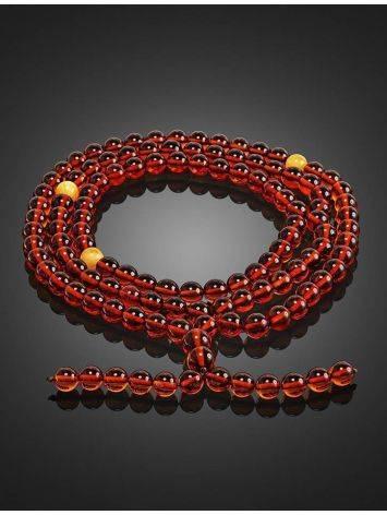 Cognac Amber Buddhist Prayer Beads, image , picture 2