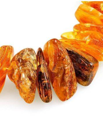 Bold Raw Amber Beaded Necklace, image , picture 5