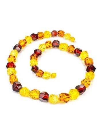 Faceted Amber Beaded Necklace, image , picture 3