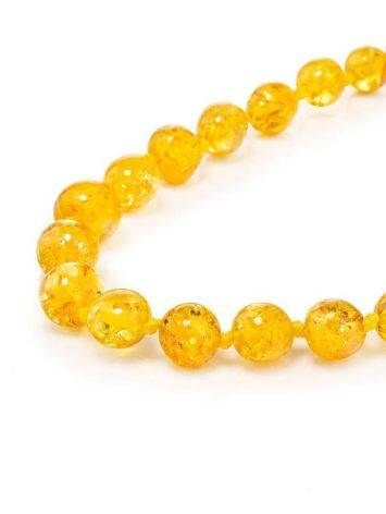 Chic Lemon Amber Ball Beaded Necklace, image , picture 3
