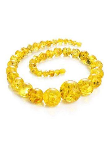 Lemon Amber Ball Beaded Necklace, image , picture 6