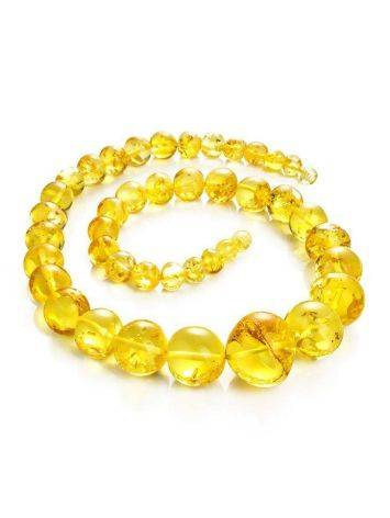 Lemon Amber Ball Beaded Necklace, image , picture 3