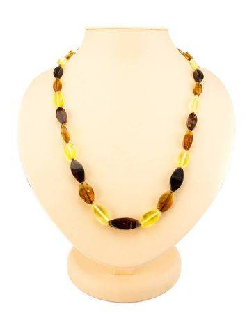 Faceted Multicolor Amber Beaded Necklace, image