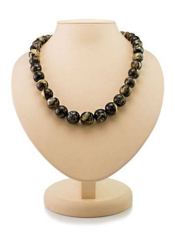 Amber Ball Beaded Necklace The Meteor, image