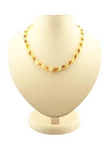 Stylish Multicolor Amber Necklace, image