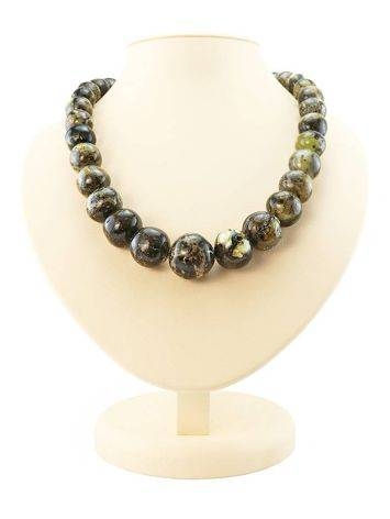 Dark Amber Ball Beaded Necklace The Meteor, image