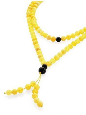 Honey Amber Buddhist Prayer Beads With Dangle, image