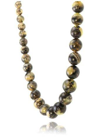 Amber Ball Beaded Necklace The Meteor, image , picture 2