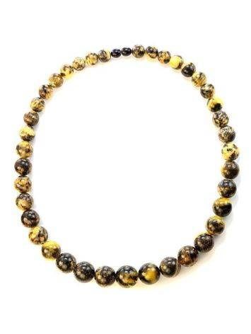 Amber Ball Beaded Necklace The Meteor, image , picture 4