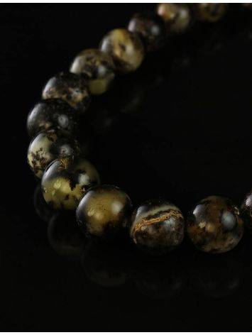Amber Ball Beaded Necklace The Meteor, image , picture 3