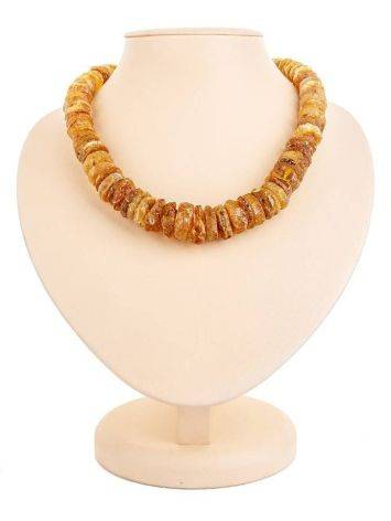 Raw Amber Beaded Necklace, image