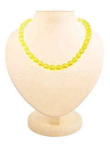 Faceted Amber Ball Beaded Necklace The Prague, image