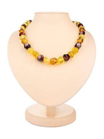 Faceted Amber Beaded Necklace, image