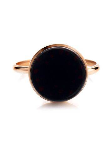 Geometric Gold Plated Amber Ring The Furor, Ring Size: Adjustable, image , picture 5