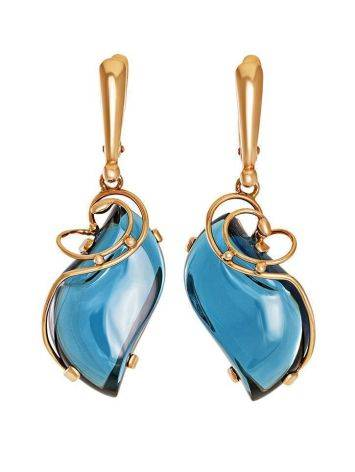 Golden Drop Earrings With Synthetic Topazes The Serenade, image