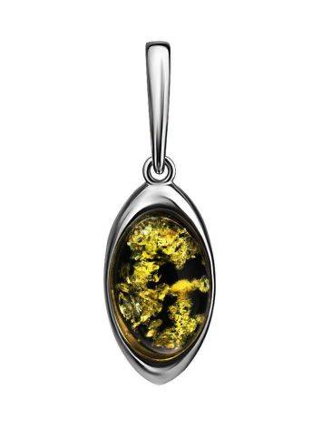 Cute Green Amber Pendant In Sterling Silver The Amaranth, image