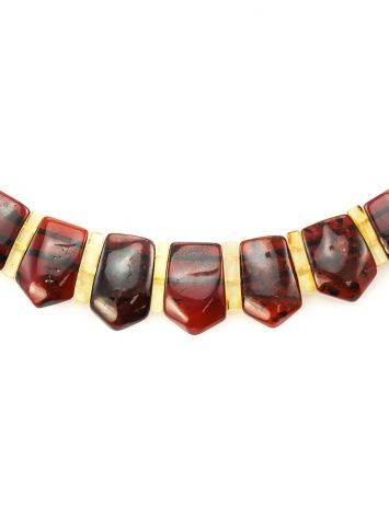 Amber Flat Beaded Necklace The Cleopatra, image , picture 5