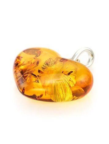 Cognac Amber Heart Pendant The Declaration, image , picture 2