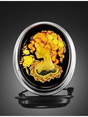 Amber Brooch With Intaglio The Nymph, image , picture 2