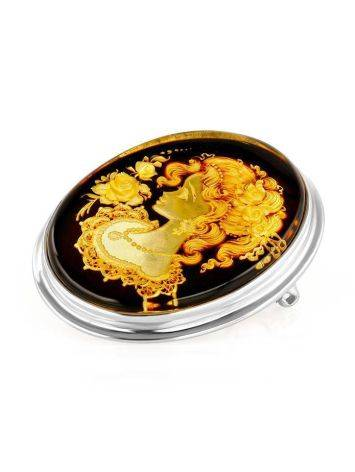 Amber Brooch With Intaglio The Nymph, image , picture 4