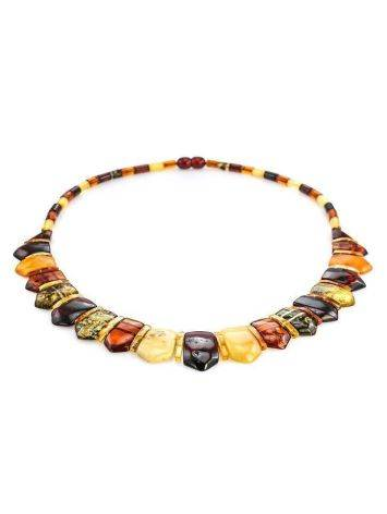 Natural Amber Flat Beaded Necklace The Cleopatra, image , picture 3