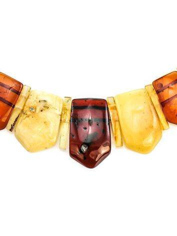 Natural Amber Flat Beaded Necklace The Cleopatra, image , picture 2