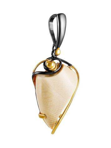 Designer Gold-Plated Pendant With Natural Mammoth Tusk The Era, image , picture 3