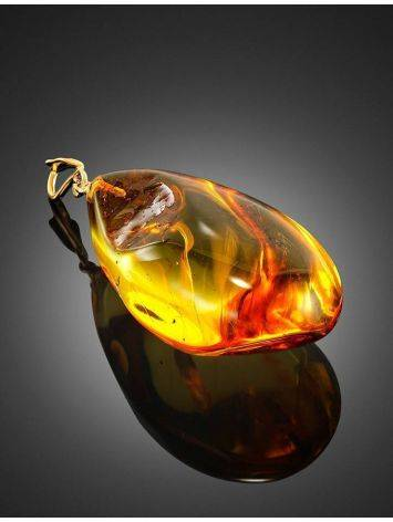 Luminous Amber Pendant With Fly Inclusion, image , picture 3