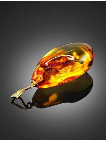 Luminous Amber Pendant With Fly Inclusion, image , picture 4