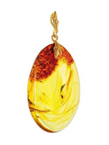 Lemon Amber Pendant With Midge Inclusion, image , picture 5