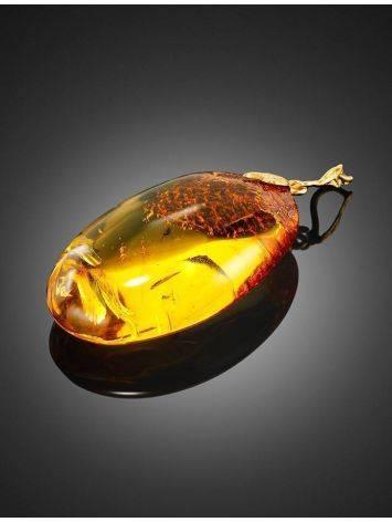 Lemon Amber Pendant With Midge Inclusion, image , picture 2
