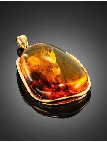 Amber Gold-Plated Pendant With Inclusions The Clio, image , picture 3