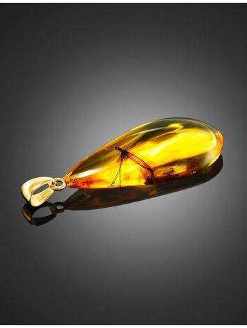Teardrop Amber Pendant With Insect Inclusion The Clio, image , picture 3