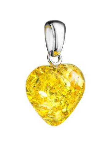 Lemon Amber Heart Pendant The Declaration, image , picture 3