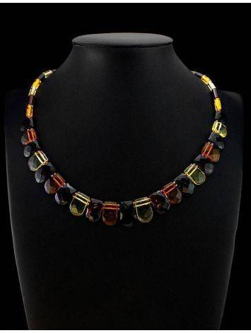 Multicolor Faceted Amber Necklace The Cleopatra, image , picture 5