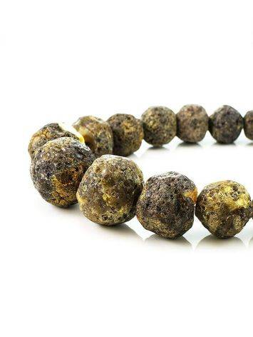 Amber Oversized Ball Beaded Necklace The Meteor, image , picture 5