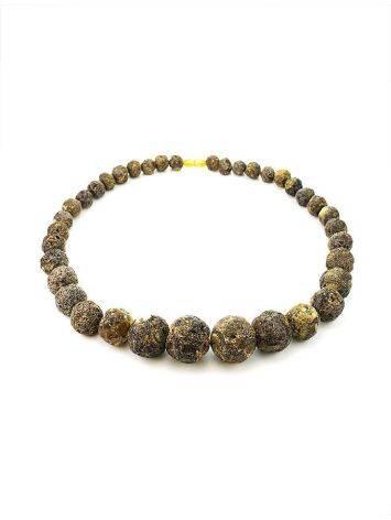 Amber Oversized Ball Beaded Necklace The Meteor, image , picture 4