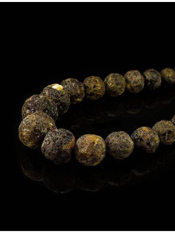 Amber Oversized Ball Beaded Necklace The Meteor, image , picture 2