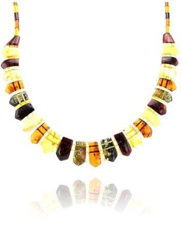 Amber Flat Beaded Necklace The Cleopatra, image , picture 2