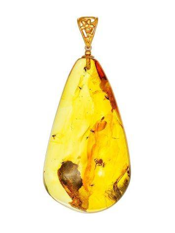 Bold Amber Pendant With Inclusions, image