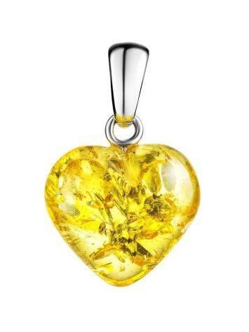 Lemon Amber Heart Pendant The Declaration, image