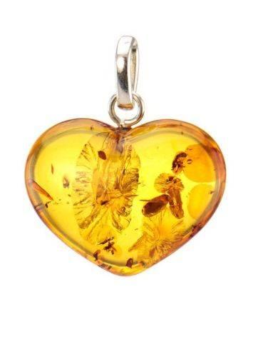 Cognac Amber Heart Pendant The Declaration, image