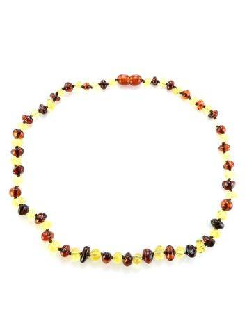 Multicolor Amber Beaded Teething Necklace, image