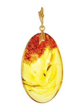 Lemon Amber Pendant With Midge Inclusion, image